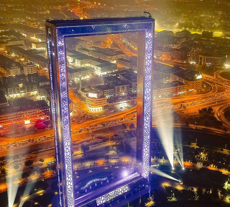 Dubai Frame Feature Adventure Trip Tourism