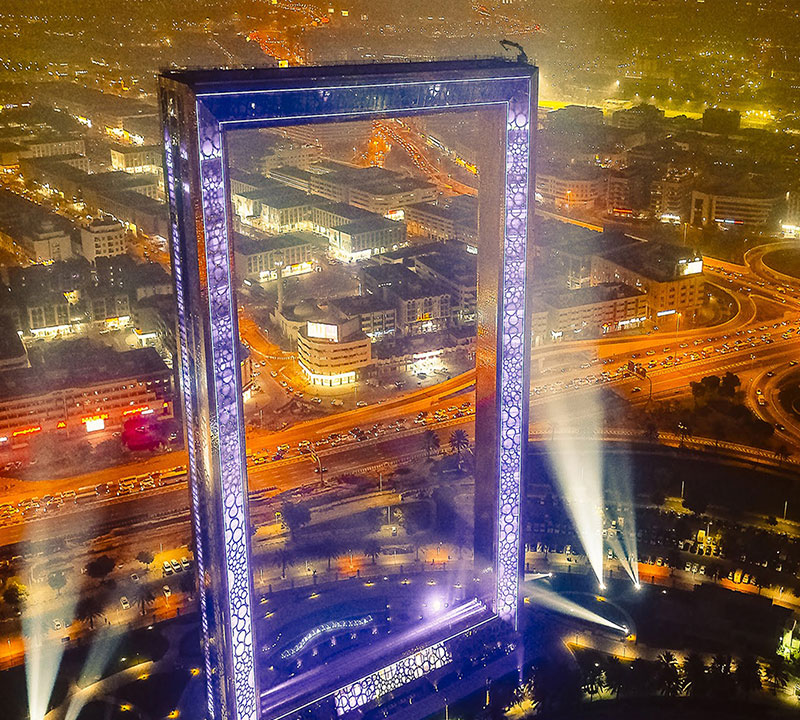 Dubai Frame Feature Adventure Trip Tourism